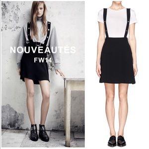 "Sandro ""Jodie"" black overall skirt 1 (US S)"